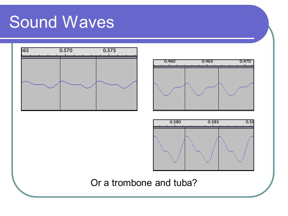 Sound Waves Or a trombone and tuba?