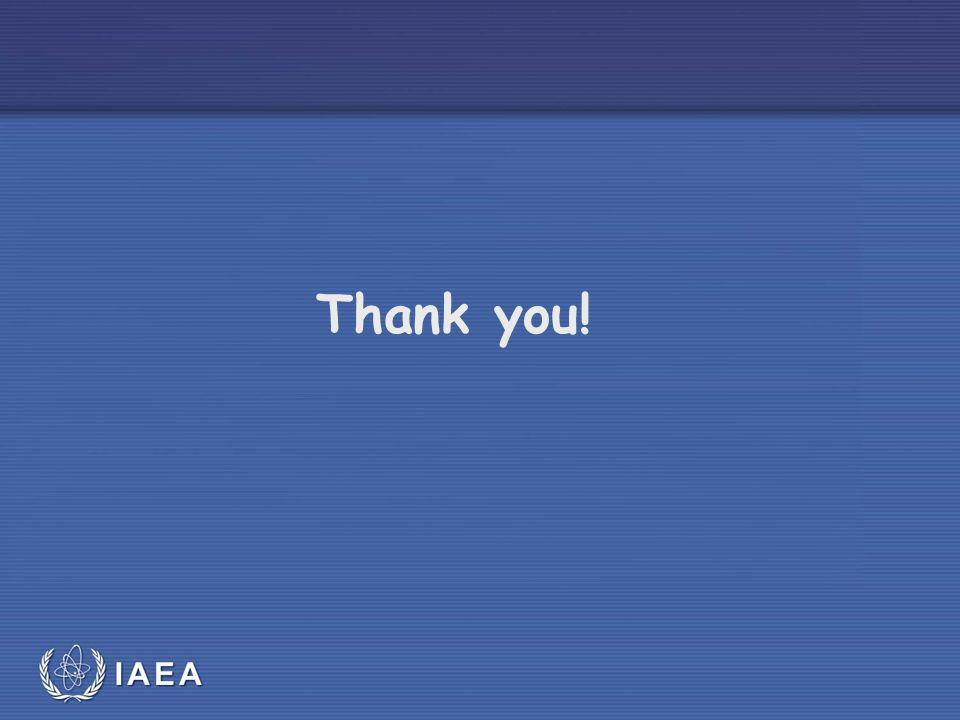 IAEA Thank you!