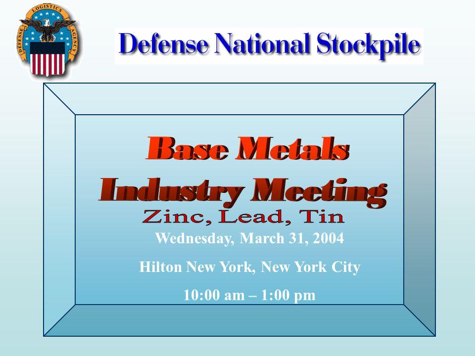 Wednesday, March 31, 2004 Hilton New York, New York City 10:00 am – 1:00 pm