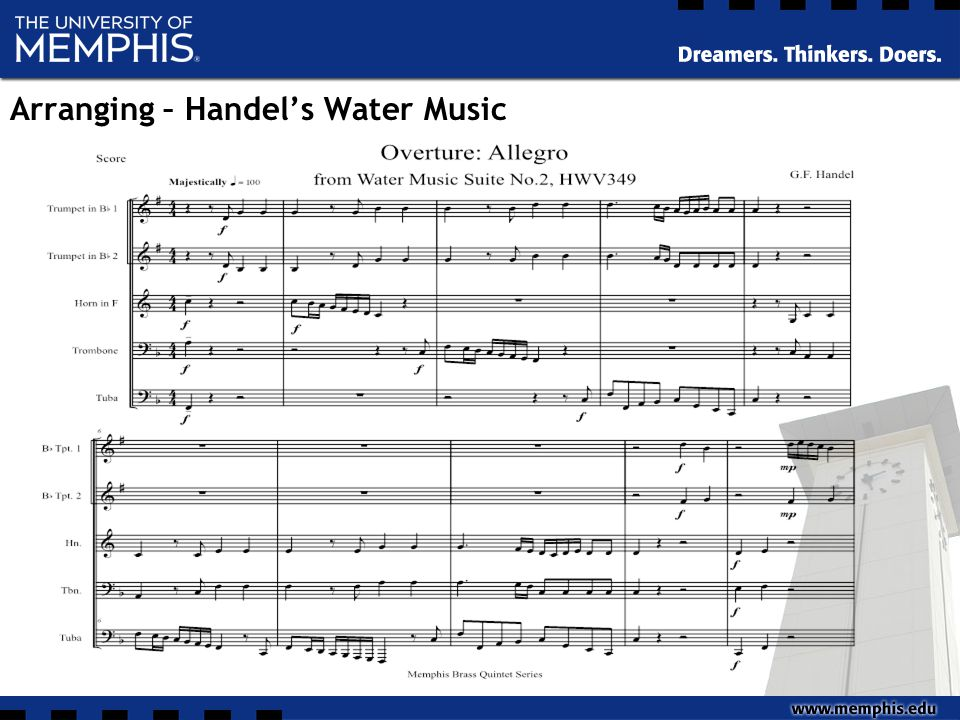 Arranging – Handel's Water Music