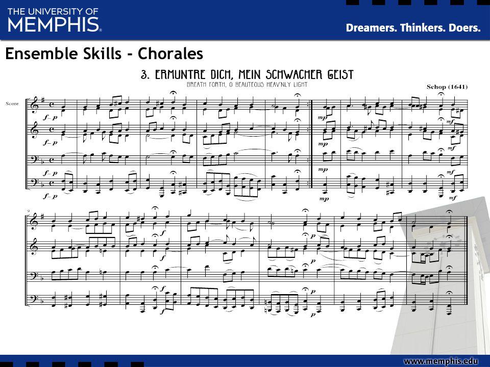 Ensemble Skills - Chorales