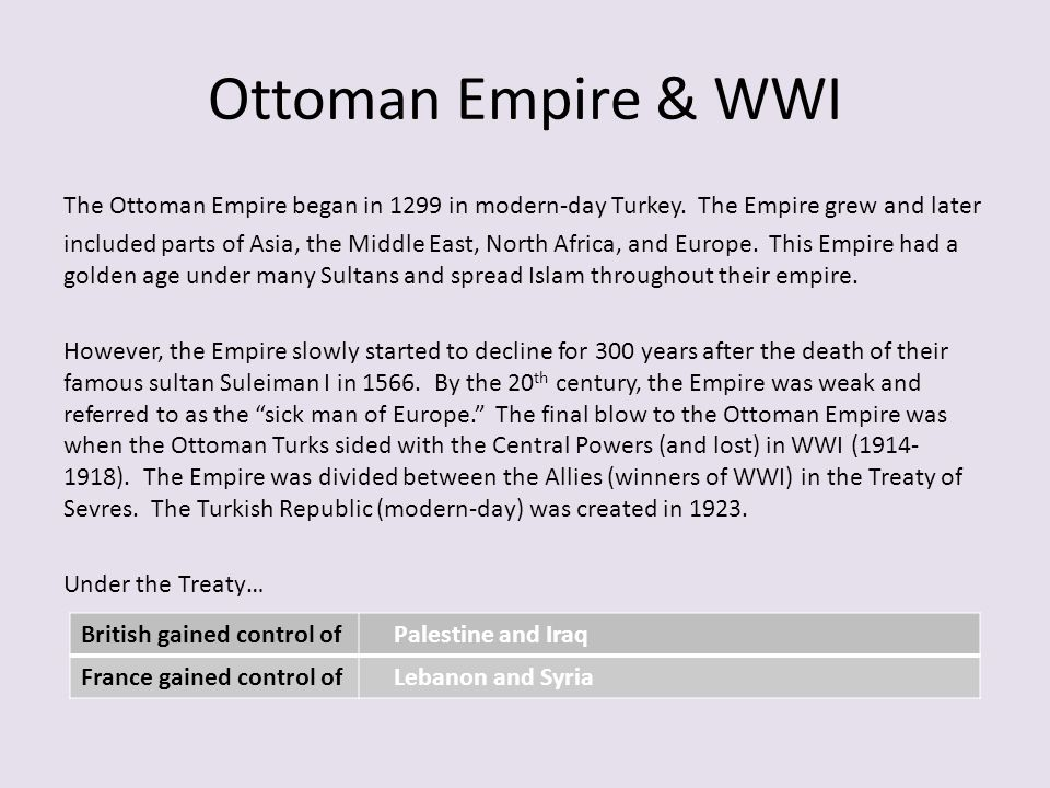 Collapse of Ottoman Empire The collapse of the Ottoman Empire has affected Southwest Asia's development.