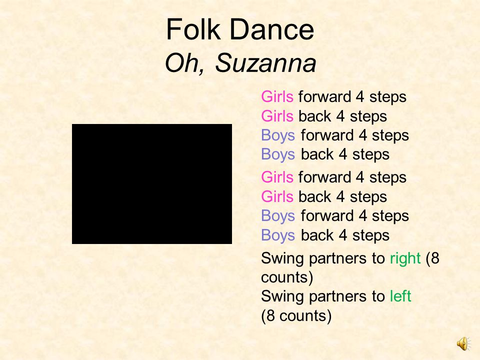 Folk Dances 3 types: –Circle dances: Dancers are in 1 large or 2 concentric circles.