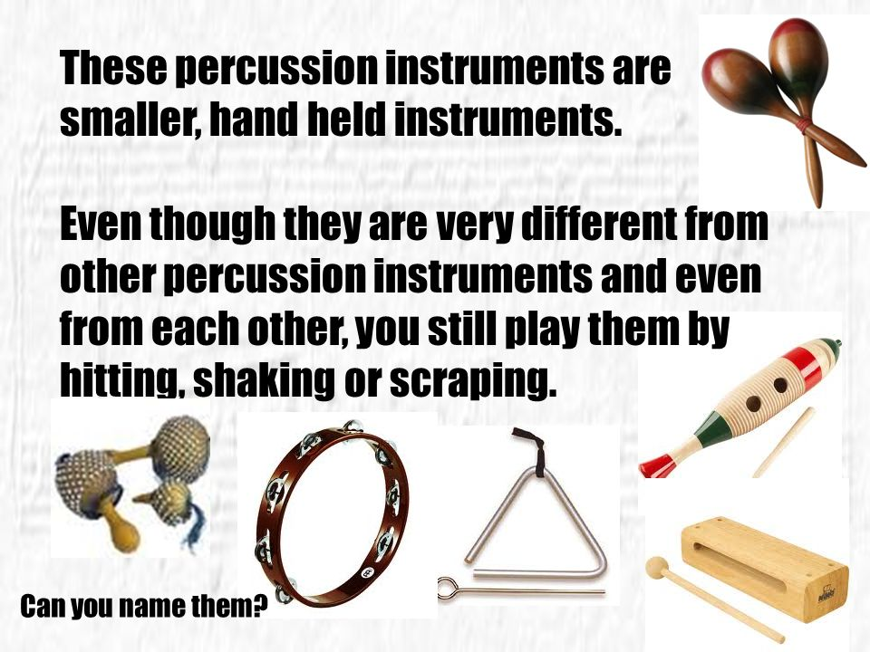 Drums are probably the oldest type of percussion instrument. People in the Middle East used to put drums on either side of their camels. The drummer s