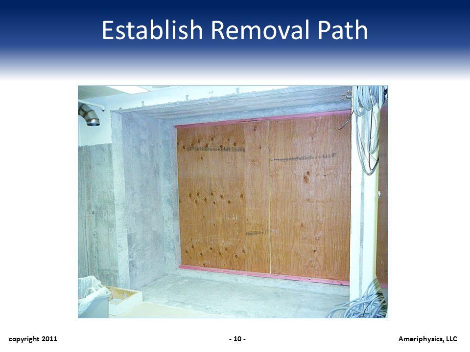 Establish Removal Path copyright 2011- 10 -Ameriphysics, LLC