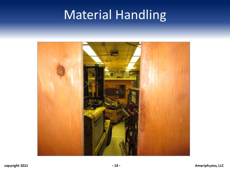 Material Handling copyright 2011- 14 -Ameriphysics, LLC