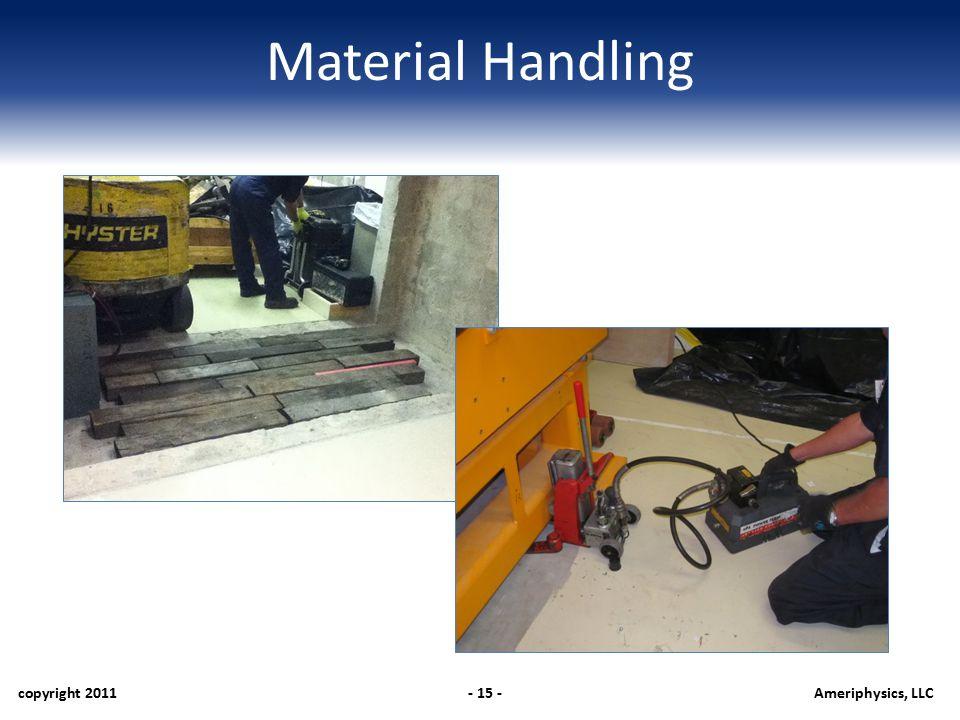 Material Handling copyright 2011- 15 -Ameriphysics, LLC