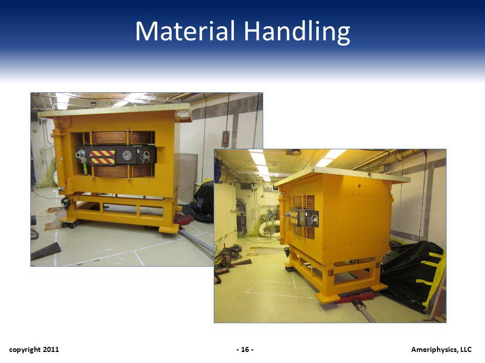 Material Handling copyright 2011- 16 -Ameriphysics, LLC