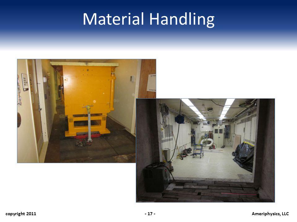 Material Handling copyright 2011- 17 -Ameriphysics, LLC