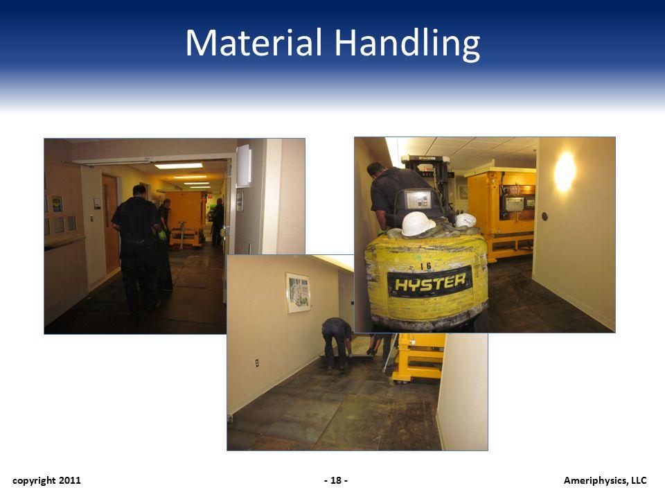 Material Handling copyright 2011- 18 -Ameriphysics, LLC