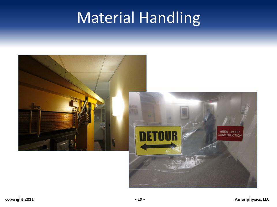 Material Handling copyright 2011- 19 -Ameriphysics, LLC