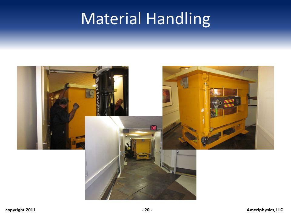 Material Handling copyright 2011- 20 -Ameriphysics, LLC