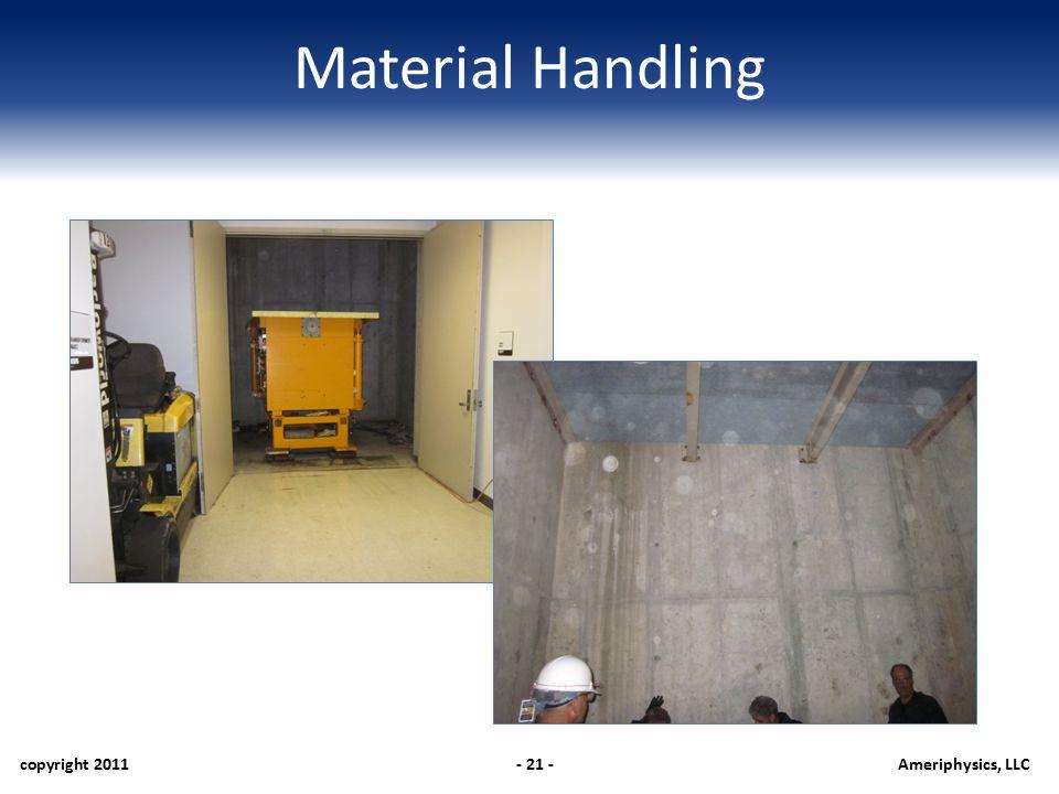Material Handling copyright 2011- 21 -Ameriphysics, LLC