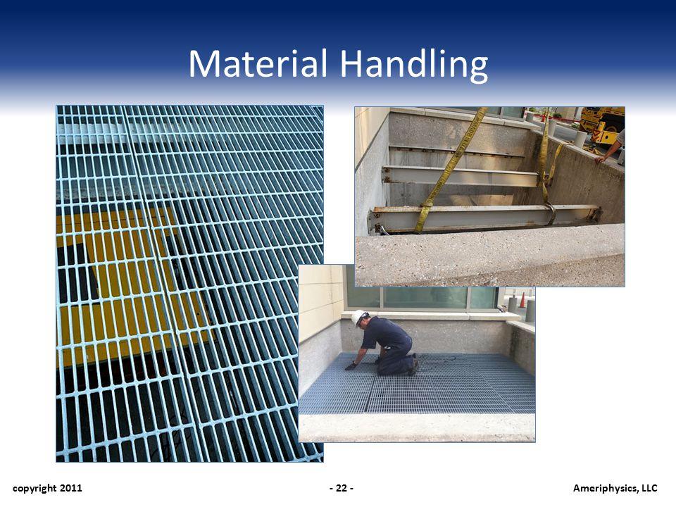 Material Handling copyright 2011- 22 -Ameriphysics, LLC