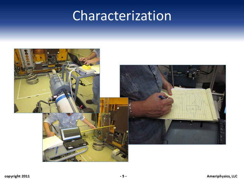 Characterization copyright 2011- 5 -Ameriphysics, LLC