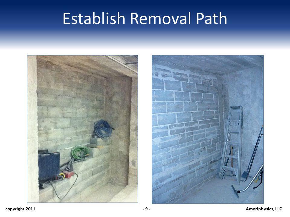 Establish Removal Path copyright 2011- 9 -Ameriphysics, LLC