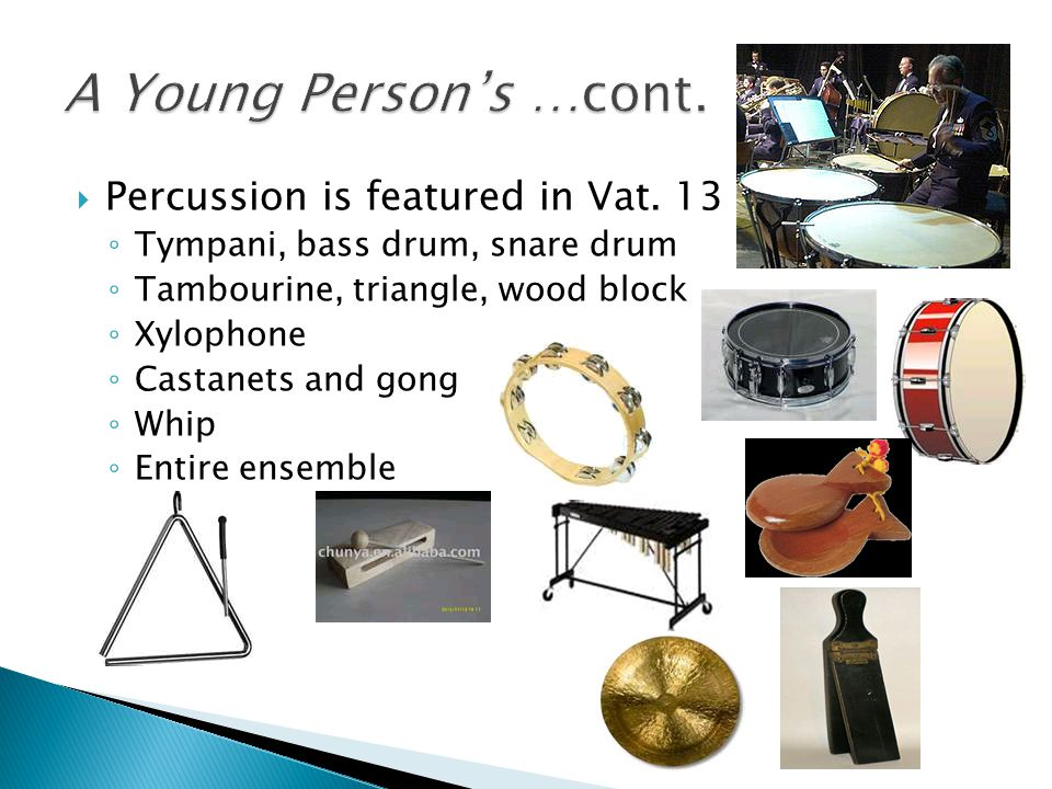  Percussion is featured in Vat.