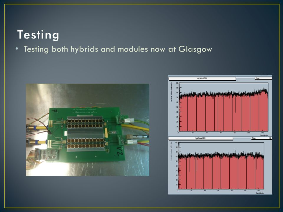 Testing both hybrids and modules now at Glasgow