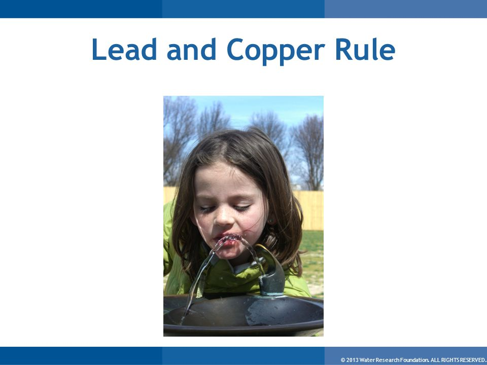 © 2013 Water Research Foundation. ALL RIGHTS RESERVED. Lead and Copper Rule