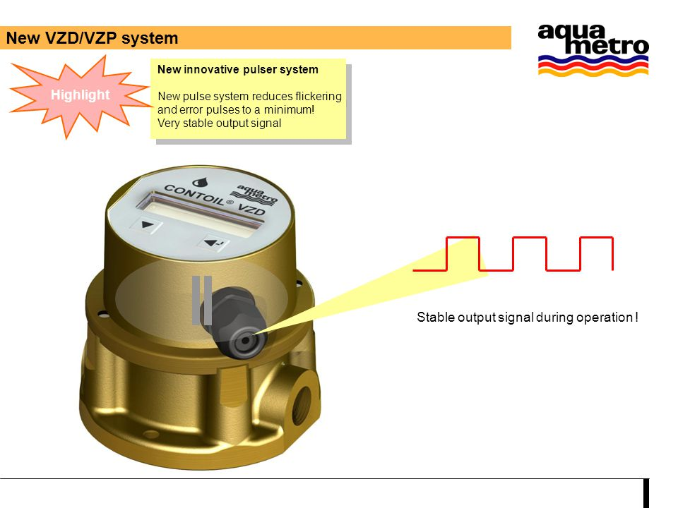 New innovative pulser system New pulse system reduces flickering and error pulses to a minimum! Very stable output signal New innovative pulser system