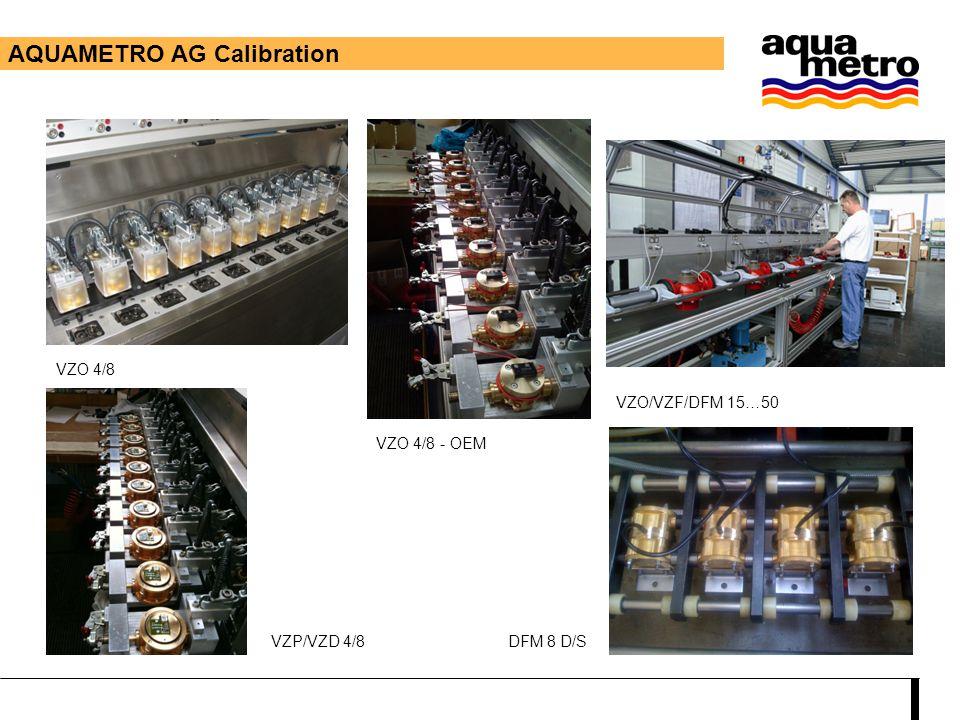 AQUAMETRO AG Calibration VZO 4/8 VZO 4/8 - OEM VZO/VZF/DFM 15…50 VZP/VZD 4/8DFM 8 D/S