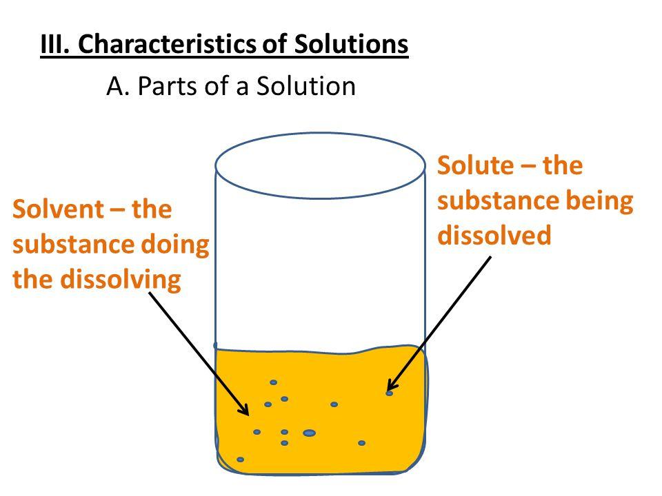 III. Characteristics of Solutions A.