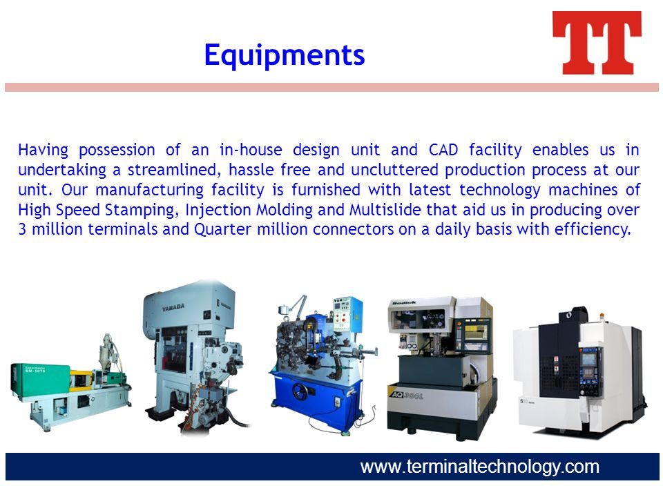 www.terminaltechnology.com Having possession of an in-house design unit and CAD facility enables us in undertaking a streamlined, hassle free and uncl