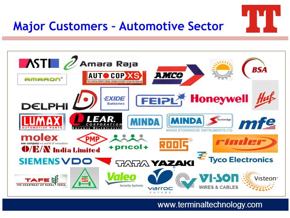 www.terminaltechnology.com Major Customers – Automotive Sector