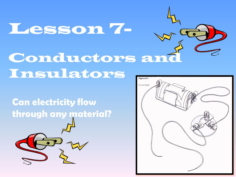 Lesson 7- Conductors and Insulators Can electricity flow through any material