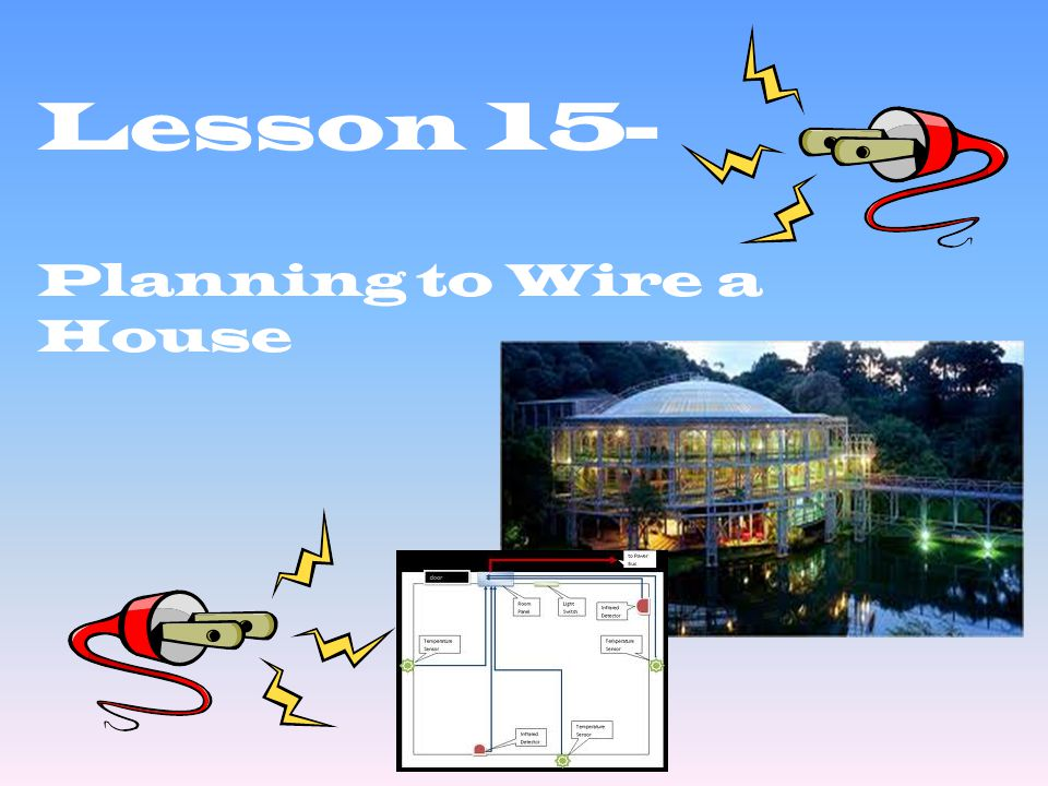 Lesson 15- Planning to Wire a House
