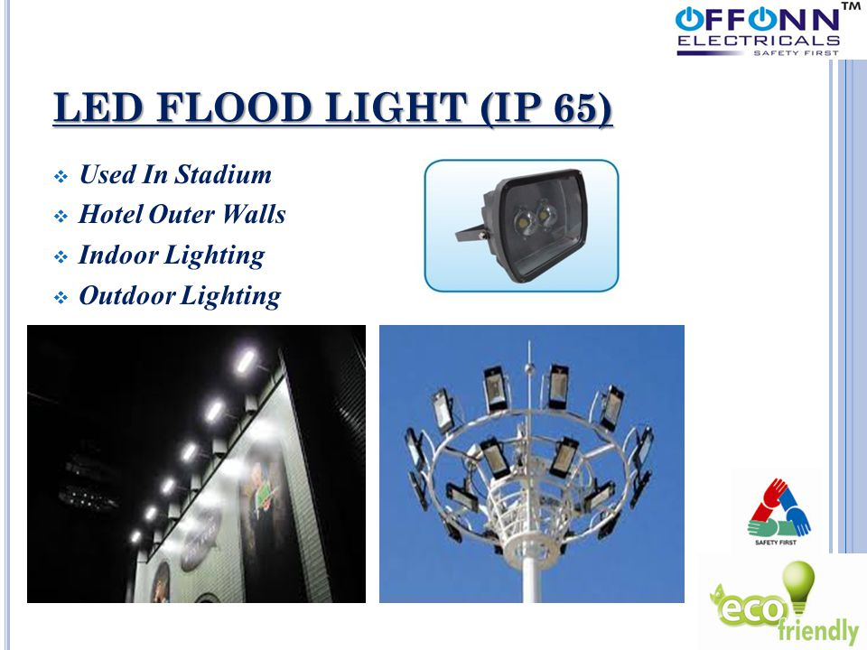 LED FLOOD LIGHT (IP 65)  Used In Stadium  Hotel Outer Walls  Indoor Lighting  Outdoor Lighting