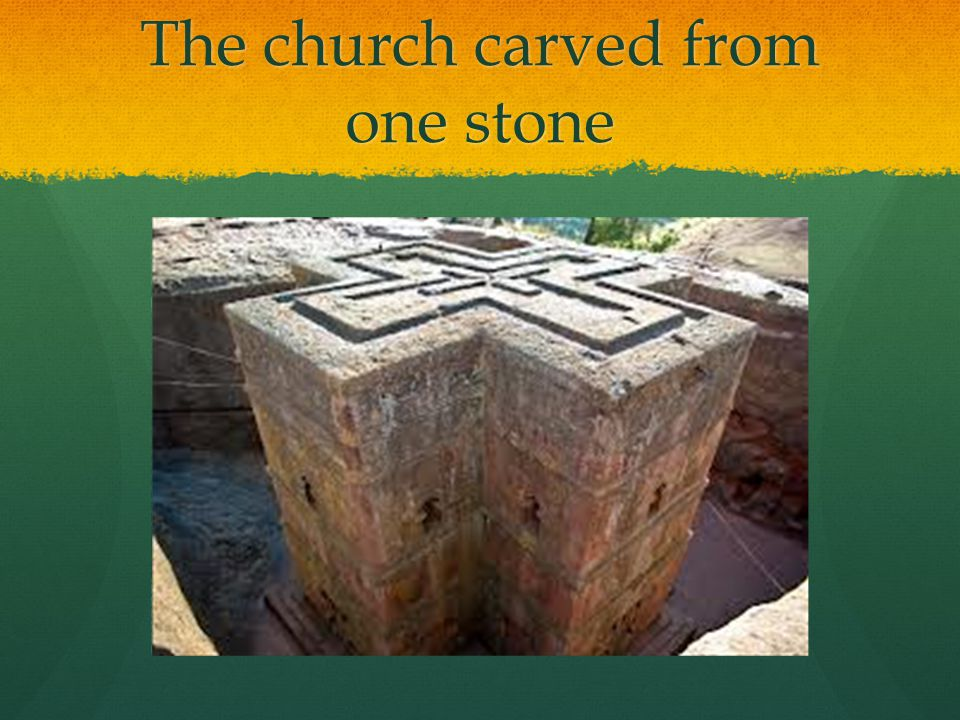 The church carved from one stone