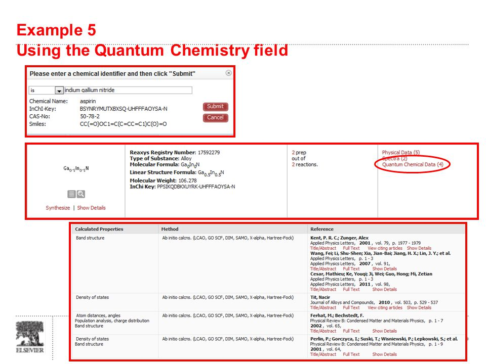 Example 5 Using the Quantum Chemistry field Slide 26