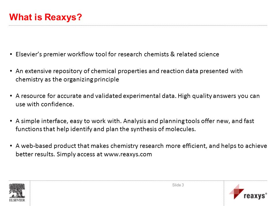 What is Reaxys.