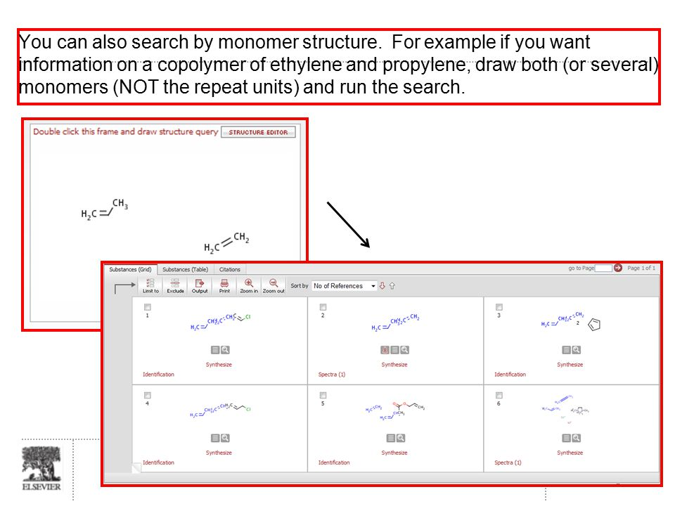 Slide 39 You can also search by monomer structure.