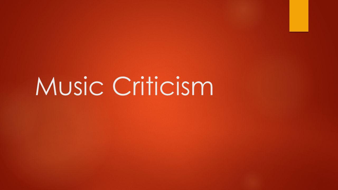 Music Criticism