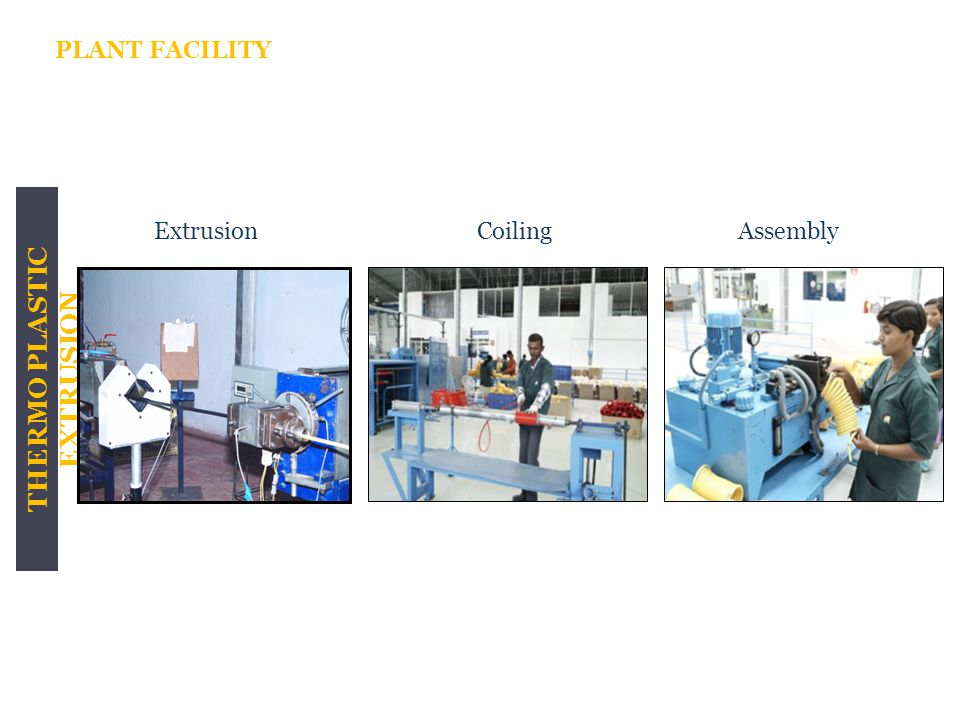THERMO PLASTIC EXTRUSION ExtrusionCoilingAssembly PLANT FACILITY