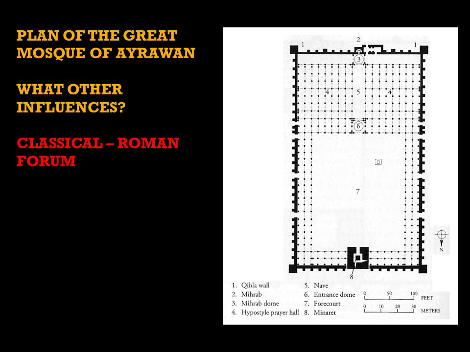PLAN OF THE GREAT MOSQUE OF AYRAWAN WHAT OTHER INFLUENCES? CLASSICAL – ROMAN FORUM