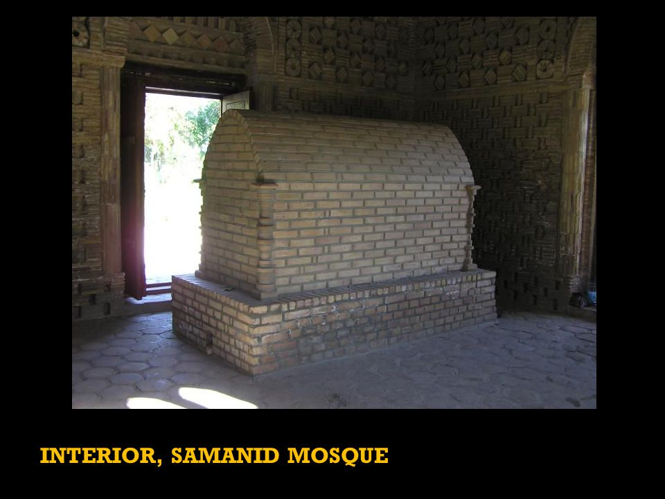 INTERIOR, SAMANID MOSQUE