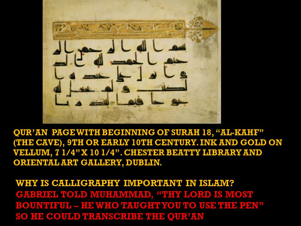 WHY IS CALLIGRAPHY IMPORTANT IN ISLAM.