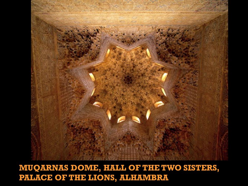 MUQARNAS DOME, HALL OF THE TWO SISTERS, PALACE OF THE LIONS, ALHAMBRA