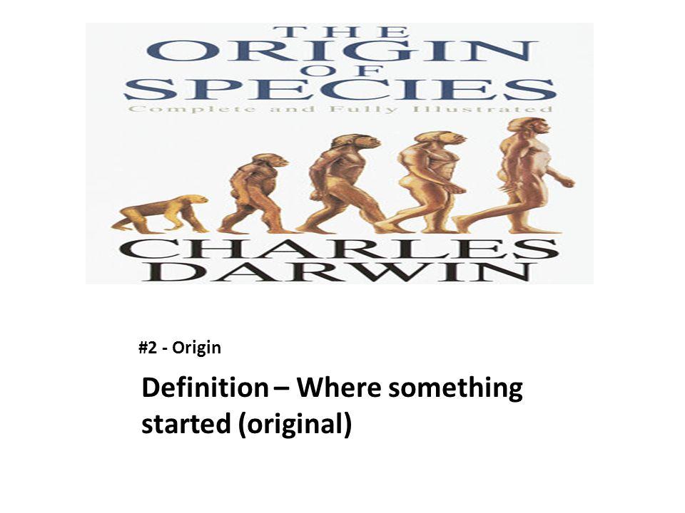 #2 - Origin Definition – Where something started (original)