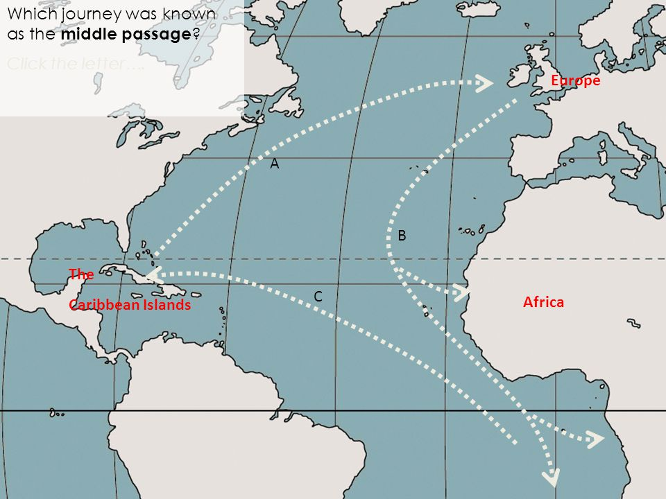 Africa Which journey was known as the middle passage .