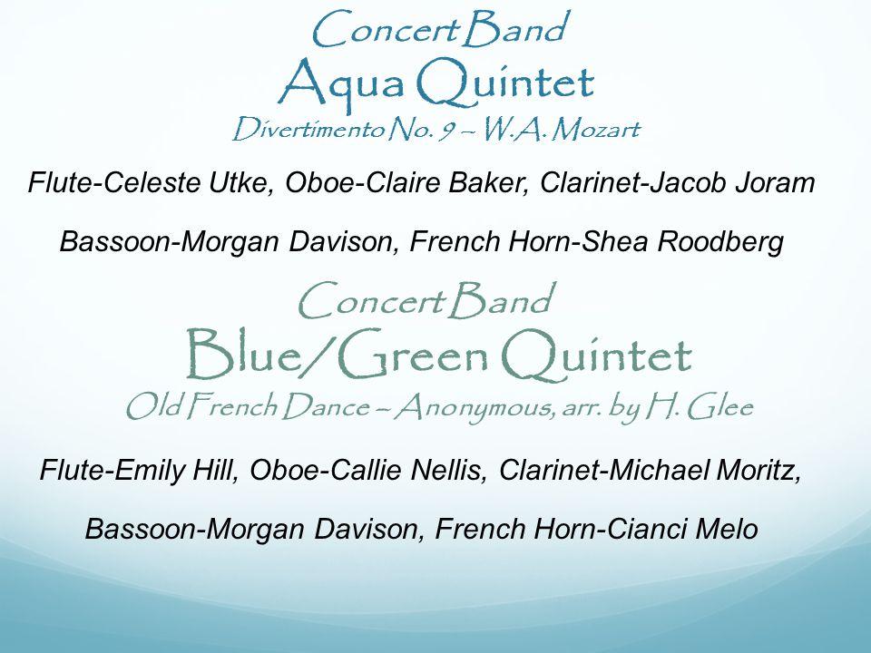 Concert Band Aqua Quintet Divertimento No. 9 – W.A.