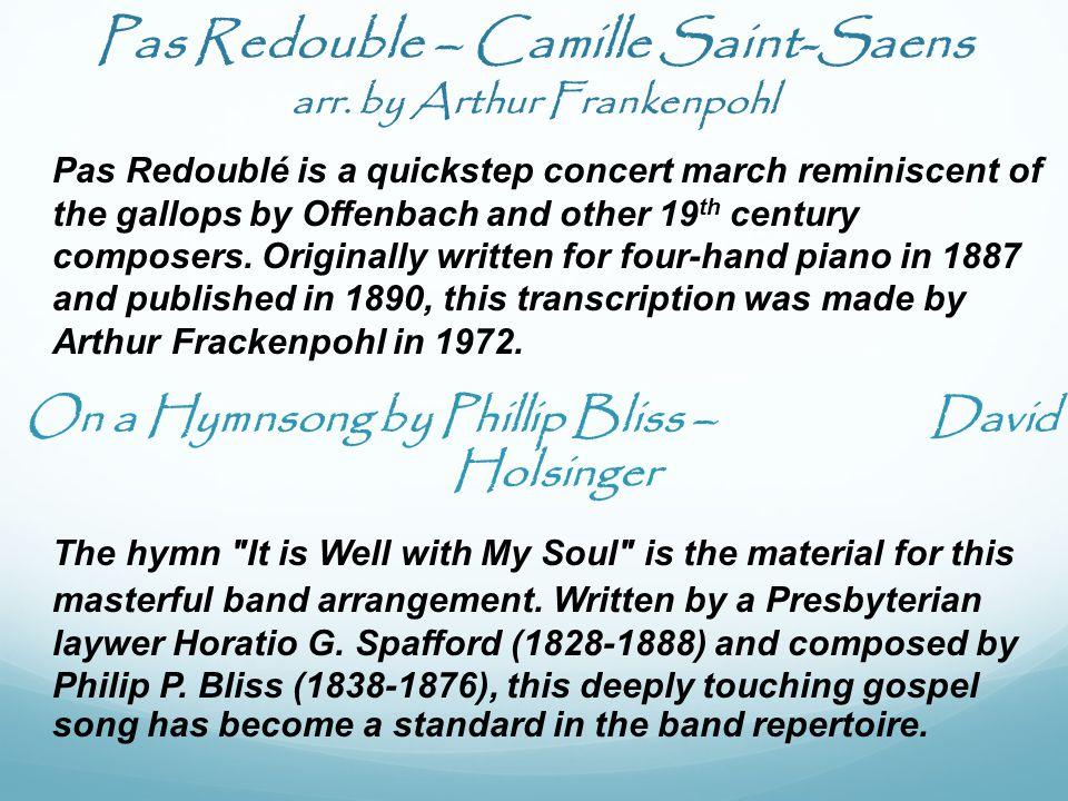 Pas Redouble – Camille Saint-Saens arr.