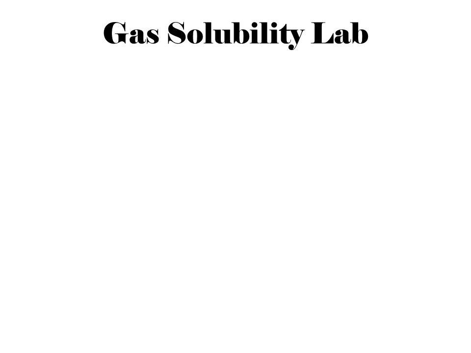 Gas Solubility Lab
