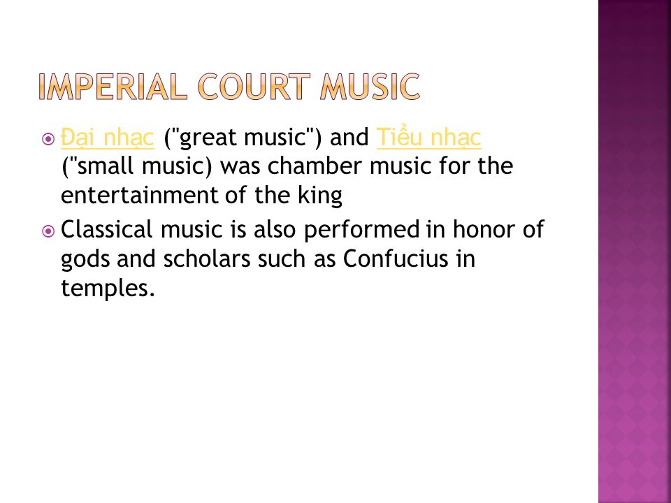  Thai classical music is synonymous with those stylized court ensembles and repertoires that emerged in its present form within the royal centers of Central Thailand some 800 years ago.