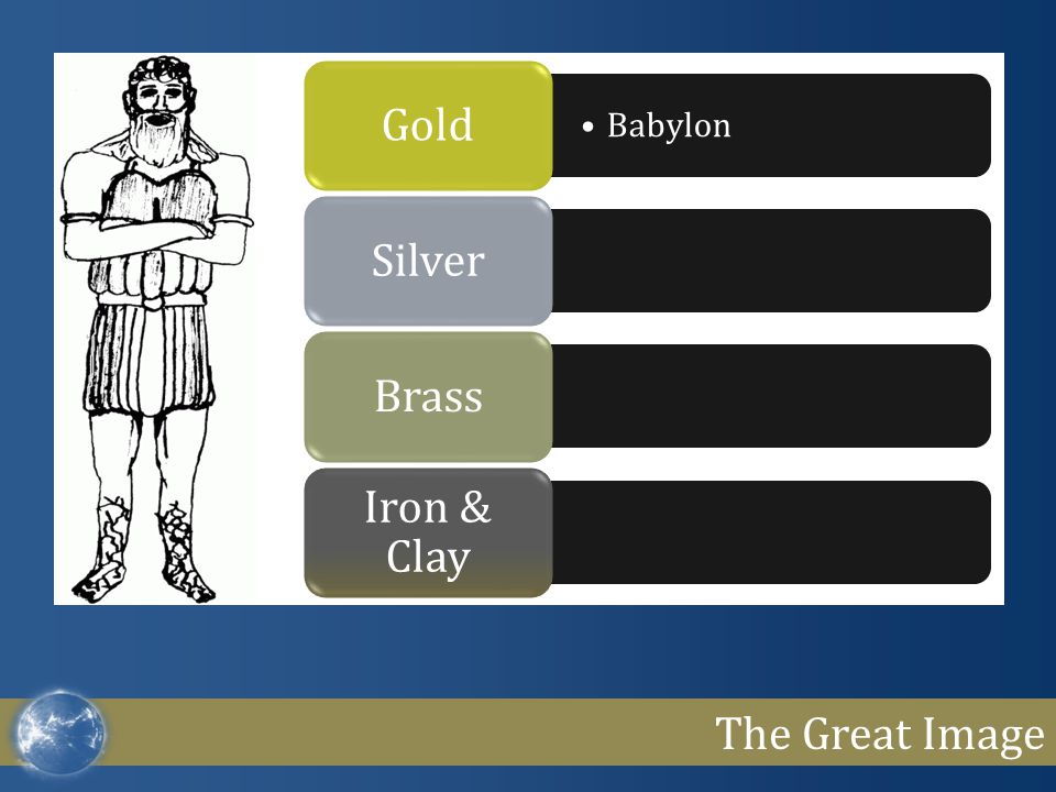 The Great Image Babylon GoldSilverBrass Iron & Clay