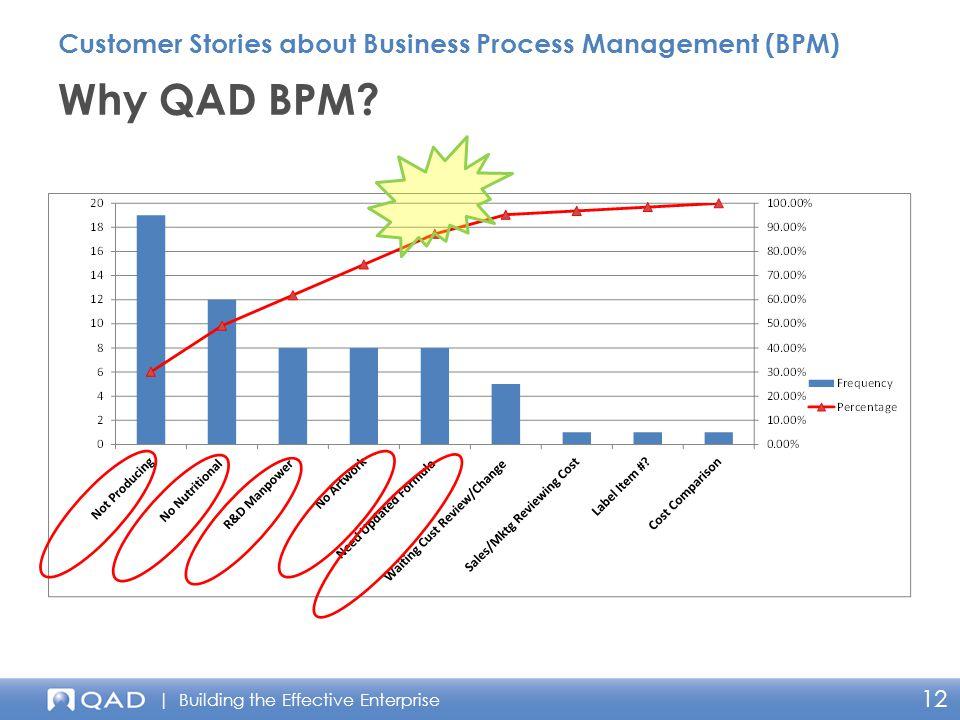 | Building the Effective Enterprise 12 Why QAD BPM.