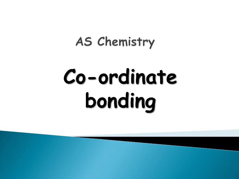 Co-ordinate bonding